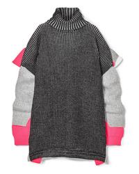 dunkelgrauer Strick Oversize Pullover von Balenciaga