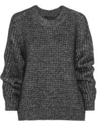 dunkelgrauer Strick Oversize Pullover von Belstaff