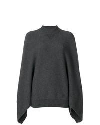 dunkelgrauer Strick Oversize Pullover von Givenchy