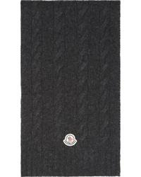 dunkelgrauer Strick Schal von Moncler