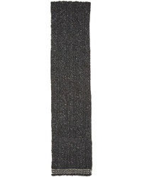 dunkelgrauer Strick Wollschal von Thom Browne