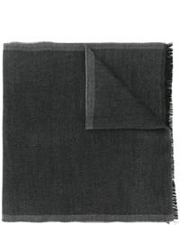 dunkelgrauer Strick Wollschal von Tom Ford