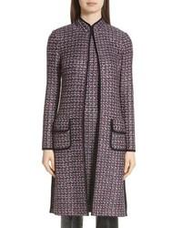 dunkelgrauer Tweed Mantel