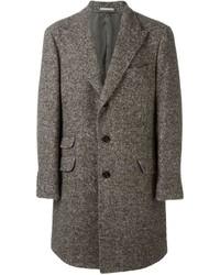 dunkelgrauer Tweed Überzug von Brunello Cucinelli