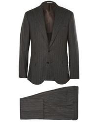 dunkelgrauer vertikal gestreifter Anzug von Brunello Cucinelli
