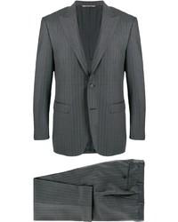 dunkelgrauer vertikal gestreifter Anzug von Canali