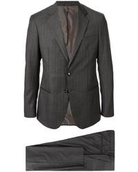 dunkelgrauer vertikal gestreifter Anzug von Giorgio Armani