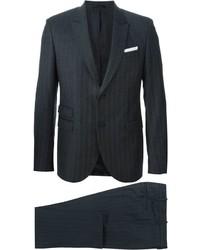 dunkelgrauer vertikal gestreifter Anzug von Neil Barrett