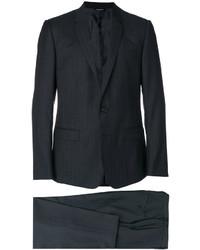 dunkelgrauer vertikal gestreifter Wollanzug von Dolce & Gabbana
