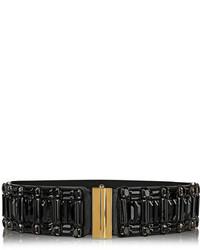 dunkelgrauer verzierter elastischer Taillengürtel von Marni