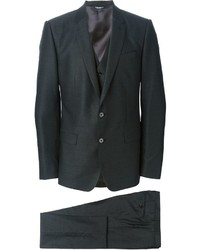 dunkelgrauer Wolldreiteiler von Dolce & Gabbana