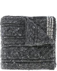 dunkelgrauer Wollschal
