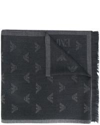 dunkelgrauer Wollschal von Emporio Armani