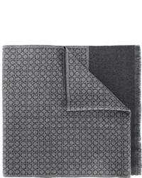 dunkelgrauer Wollschal von Salvatore Ferragamo