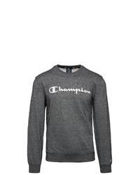 dunkelgraues bedrucktes Sweatshirt von Champion