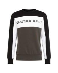 dunkelgraues bedrucktes Sweatshirt von G-Star RAW