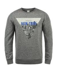 dunkelgraues bedrucktes Sweatshirt von Jack & Jones