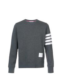 dunkelgraues bedrucktes Sweatshirt von Thom Browne