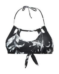 dunkelgraues Bikinioberteil mit Blumenmuster von Roxy