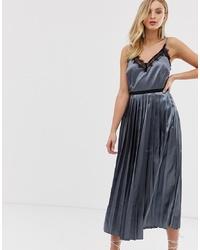 dunkelgraues Camisole-Kleid von Little Mistress