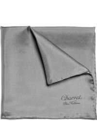 dunkelgraues Einstecktuch von Charvet