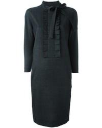 dunkelgraues gestepptes Wollkleid von Maison Margiela