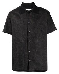 dunkelgraues Kurzarmhemd von Anglozine
