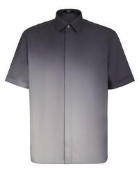 dunkelgraues Kurzarmhemd von Fendi