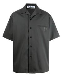 dunkelgraues Kurzarmhemd von Off-White