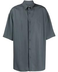 dunkelgraues Kurzarmhemd von Valentino