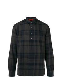dunkelgraues Langarmhemd mit Schottenmuster von Barena