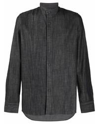 dunkelgraues Langarmhemd von Tagliatore