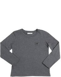 dunkelgraues Langarmshirt