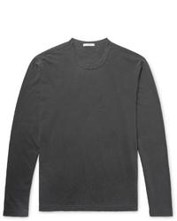 dunkelgraues Langarmshirt von James Perse