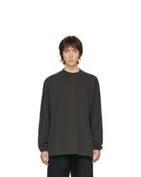 dunkelgraues Langarmshirt von John Elliott
