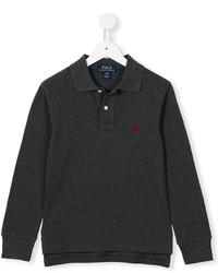 dunkelgraues Polohemd von Ralph Lauren