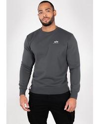 dunkelgraues Sweatshirt von Alpha Industries