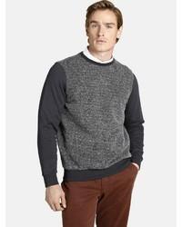 dunkelgraues Sweatshirt von Charles Colby