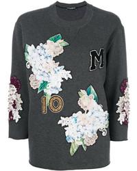 dunkelgraues Sweatshirt von Dolce & Gabbana
