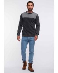 dunkelgraues Sweatshirt von Dreimaster