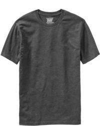 dunkelgraues T-Shirt mit einem Rundhalsausschnitt