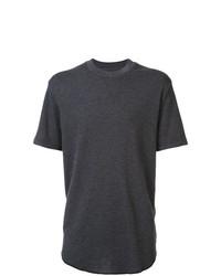 dunkelgraues T-Shirt mit einem Rundhalsausschnitt von 321