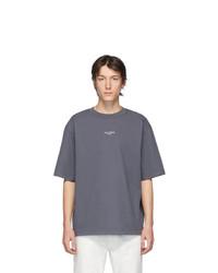 dunkelgraues T-Shirt mit einem Rundhalsausschnitt von Acne Studios