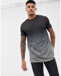 dunkelgraues T-Shirt mit einem Rundhalsausschnitt von ASOS DESIGN