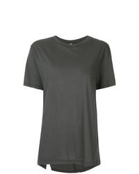 dunkelgraues T-Shirt mit einem Rundhalsausschnitt von Bassike