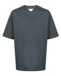 dunkelgraues T-Shirt mit einem Rundhalsausschnitt von Bottega Veneta