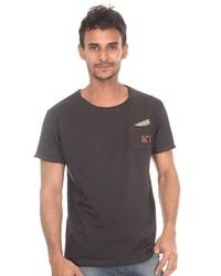 dunkelgraues T-Shirt mit einem Rundhalsausschnitt von Catch