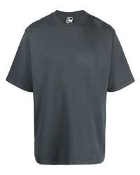 dunkelgraues T-Shirt mit einem Rundhalsausschnitt von GR10K