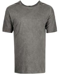 dunkelgraues T-Shirt mit einem Rundhalsausschnitt von Isaac Sellam Experience