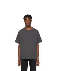 dunkelgraues T-Shirt mit einem Rundhalsausschnitt von John Elliott